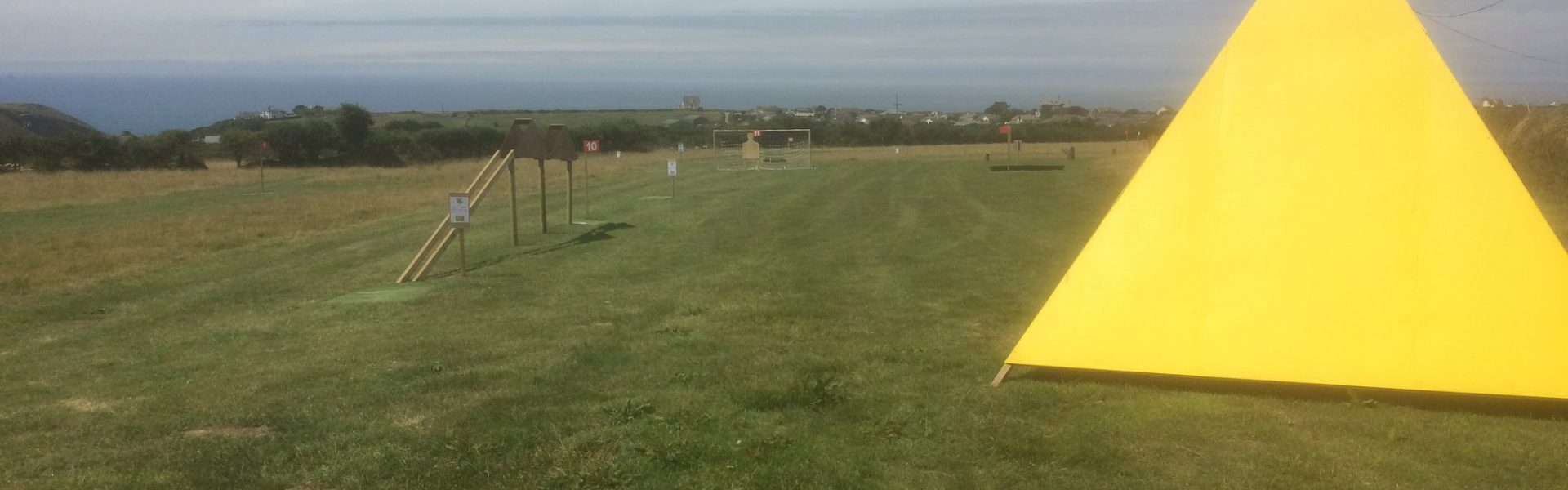 Dunks Footgolf Course - View from the 1st